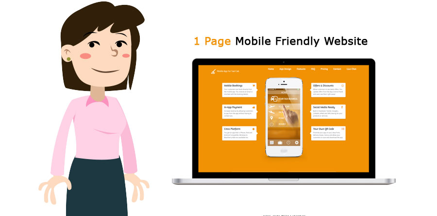 1 Page Mobile Friendly Website Austin